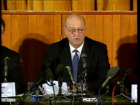verdict announced pool scotland lockerbie andrew campbell press conference sot we recognise hardship and stress that these people have been through... - dumfries and galloway stock videos & royalty-free footage