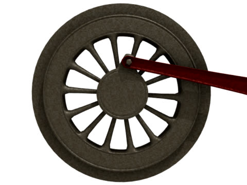 Locomotive Wheel Rotating