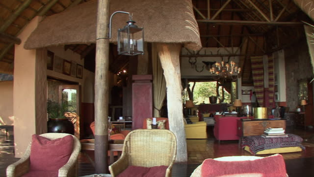 ws pan lodge interior in kruger national park / mpumalanga province, south africa - wildlife reserve stock videos & royalty-free footage