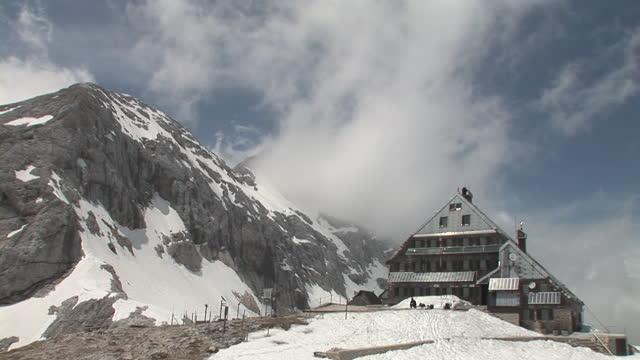 la ws lodge near julian alps in triglav national park / kredarica, gorenjska, slovenia - julian alps stock videos and b-roll footage