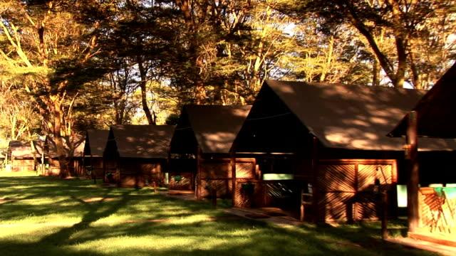 アフリカのロッジ - タンザニア点の映像素材/bロール