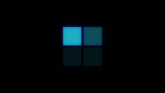 loding square icon - quadratisch zweidimensionale form stock-videos und b-roll-filmmaterial