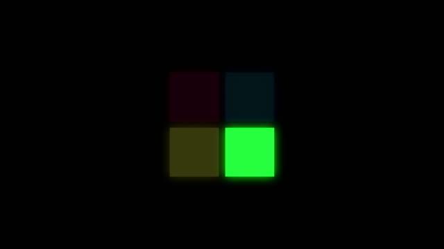 ロディングスクエアアイコン - 平面形点の映像素材/bロール