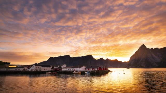 lofoten islands in norway - scandinavian culture stock videos and b-roll footage