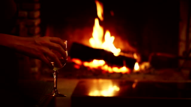 Log Fire for a Warm Fireplace