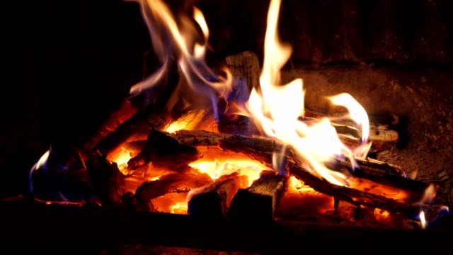 log fire in a fireplace - open fire stock videos & royalty-free footage