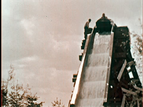log flume water slide ride at new york world's fair/ queens ny - unknown gender stock videos & royalty-free footage