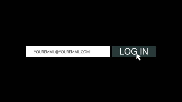 log in button animation, 4k video - log on stock videos & royalty-free footage