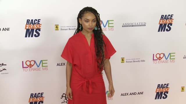 logan browning at the race to erase 25th anniversary gala at the beverly hilton hotel on april 20, 2018 in beverly hills, california. - the beverly hilton hotel stock videos & royalty-free footage