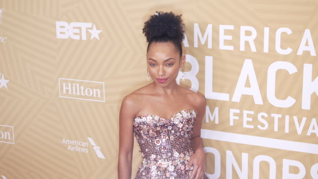 logan browning at the the american black film festival honors awards ceremony at the beverly hilton hotel on february 23, 2020 in beverly hills,... - the beverly hilton hotel stock videos & royalty-free footage