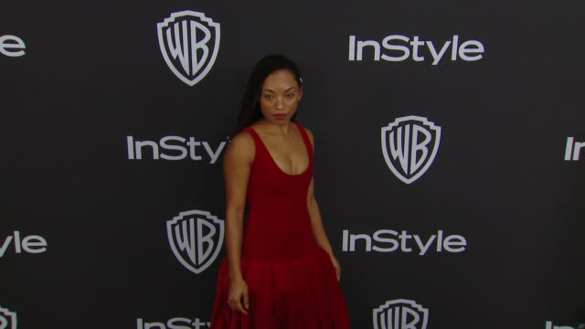 logan browning at the warner bros. and instyle host 20th annual post-golden globes party at the beverly hilton hotel on january 06, 2019 in beverly... - the beverly hilton hotel stock videos & royalty-free footage