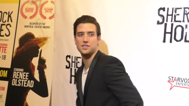 logan henderson at the opening night of sir arthur conan doyle's sherlock holmes at the montalban theatre in hollywood - celebrity sightings on... - arthur conan doyle stock videos & royalty-free footage