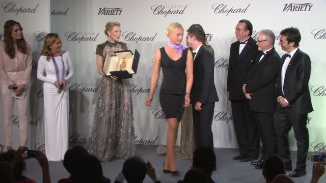 INTERVIEW Logan Lerman on receiving the Chopard Trophy at Chopard Trophy Party at Martinez Hotel on May 15 2014 in Cannes France