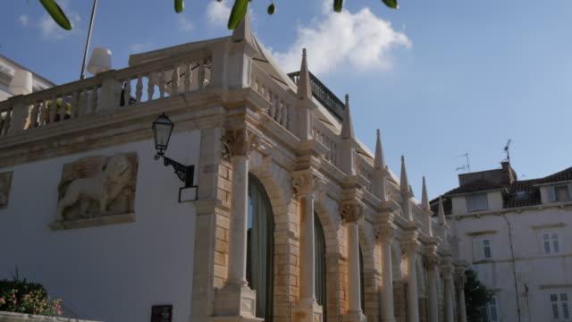 Loggia on main square, Hvar, Hvar Island, Dalmatia, Croatia, Europe