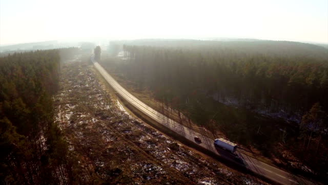logging clear cut and road - aerial shot. - destruction stock videos & royalty-free footage
