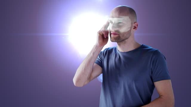 vídeos y material grabado en eventos de stock de registro en mundo de realidad virtual - realidad aumentada