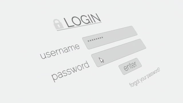 4k login page - wireless technology stock videos & royalty-free footage