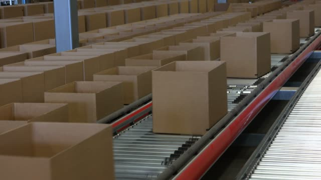 logistics centre of a mail-order company for office products, grossostheim, bavaria, germany, europe - packaging stock videos & royalty-free footage