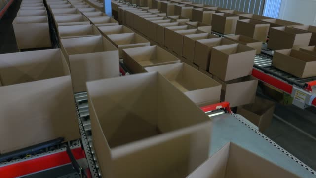 logistics centre of a mail-order company for office products, grossostheim, bavaria, germany, europe - large group of objects stock videos & royalty-free footage