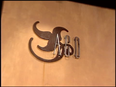 stockvideo's en b-roll-footage met logo at the artistic freedom oscar party at ago in west hollywood, california on february 27, 2005. - 77e jaarlijkse academy awards
