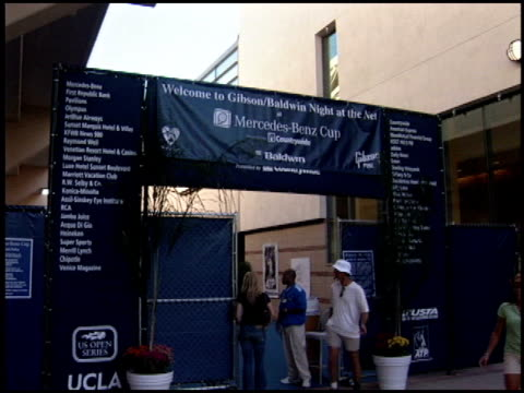 logo at the Night at the Net Charity Tennis at UCLA in Westwood California on July 25 2005