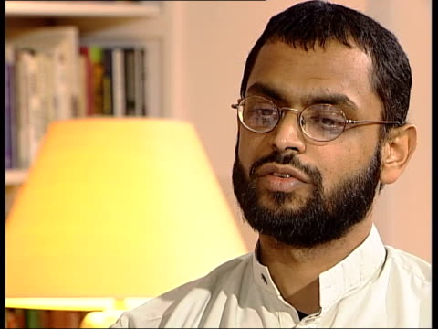 logo on screen moazzam begg interview sot they used to take us into freezing icecold showers from which people actually dropped from the sheer cold... - hypothermia stock videos and b-roll footage