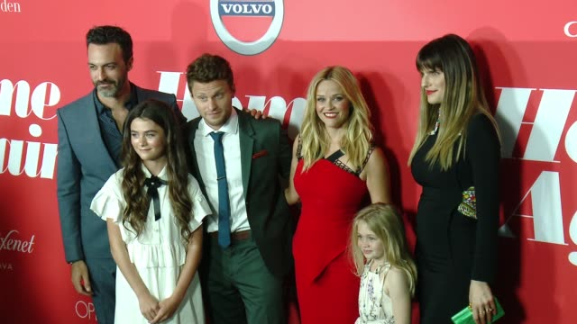 "Lola Flanery Eden Grace Redfield Jon Rudnitsky Reese Witherspoon Lake Bell at ""Home Again"" Premiere in Los Angeles CA"