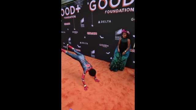 lola jolie thomas aonika laurent luc laurent thomas attend the 2018 good foundation's 3rd annual halloween bash presented by delta air lines and... - delta air lines stock-videos und b-roll-filmmaterial