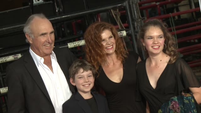 Lolita Davidovich and Ron Shelton at The Longest Ride Los Angeles Premiere at TCL Chinese Theatre on April 06 2015 in Hollywood California