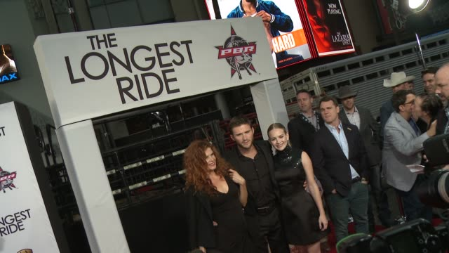 lolita davidovich britt robertson and scott eastwood at the longest ride los angeles premiere at tcl chinese theatre on april 06 2015 in hollywood... - leather stock videos and b-roll footage