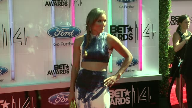 lolo jones at the 2014 bet awards on june 29 2014 in los angeles california - bet awards stock videos and b-roll footage