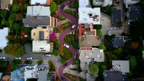 """lombard """"crooked"""" street in san francisco - san francisco kalifornien bildbanksvideor och videomaterial från bakom kulisserna"""