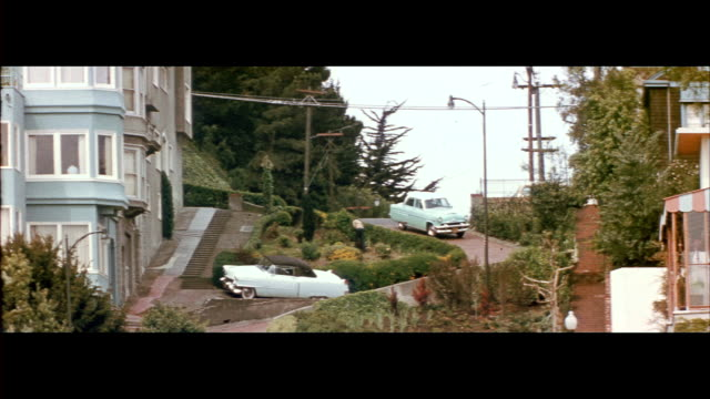 vidéos et rushes de 1955 lombard street in san francisco - abrupt