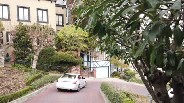 ロンバードストリートサンフランシスコ - サンフランシスコ ロンバード通り点の映像素材/bロール