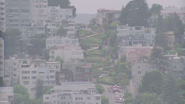 h-d lombard street - lombard street san francisco stock videos & royalty-free footage