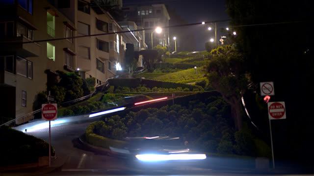 hd lombard street - lombard street san francisco bildbanksvideor och videomaterial från bakom kulisserna