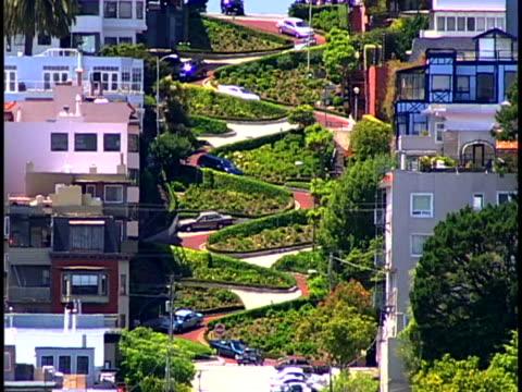 lombard street - lombard street san francisco bildbanksvideor och videomaterial från bakom kulisserna