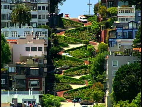 lombard street - サンフランシスコ ロンバード通り点の映像素材/bロール
