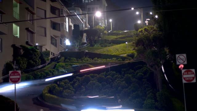 hd ロンバート(拡大 - サンフランシスコ ロンバード通り点の映像素材/bロール