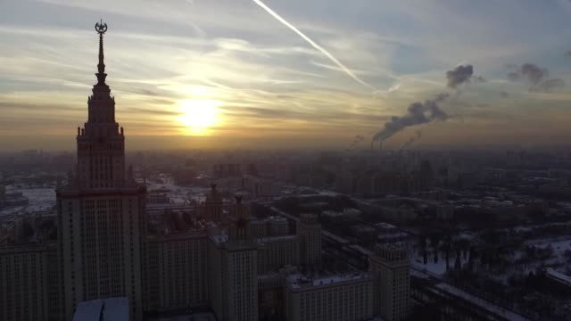 lomonosov moscow state university - moscow russia stock videos & royalty-free footage