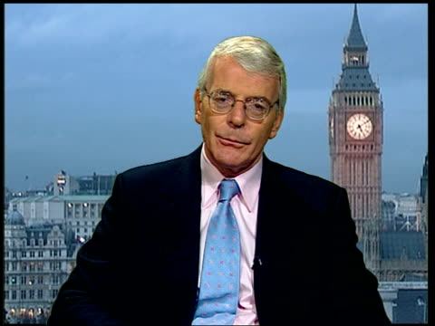 London John Major interview SOT It isn't a question of regretting it really we were under an obligation to spend it in order to stay in under the...