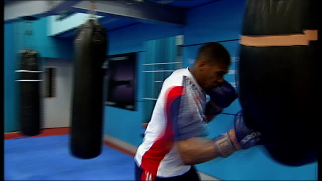 london 2012 olympic games: anthony joshua qualifies for team gb; england: london: joshua interview sot - on not getting the gold ** music overlaid on... - zweiter platz stock-videos und b-roll-filmmaterial