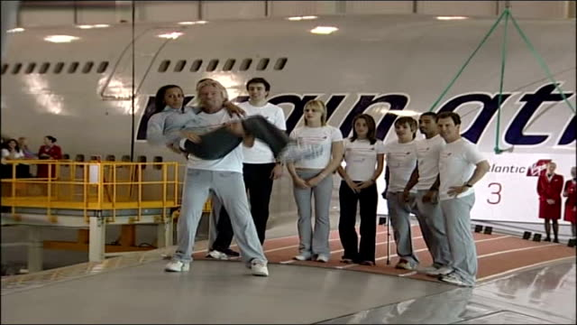 Branson starts fund to get Concorde airborne ENGLAND London INT Richard Branson running towards with 2012 London Olympics ambassadors including...