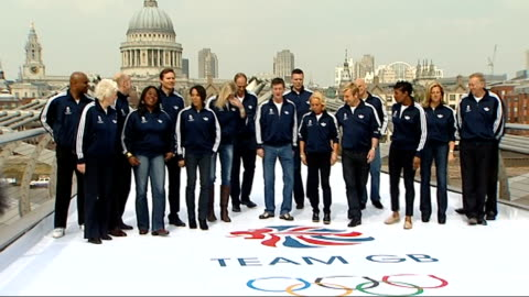 stockvideo's en b-roll-footage met london 2012 olympic games: british olympic association want greater cut of profits; england: london: millennium bridge: ext various views of former... - 2012