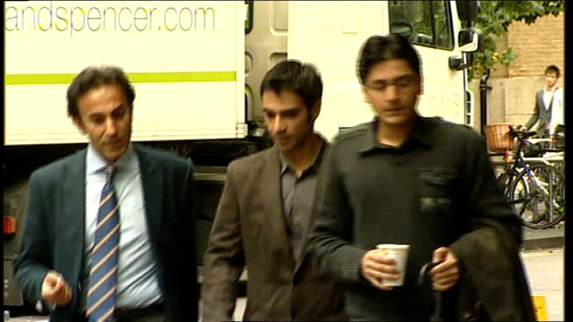 danger of athletes being targeted by gambling syndicates date england london southwark crown court salman butt and others arriving at court - channel 4 news stock videos & royalty-free footage