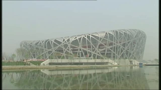 Doping retests reveal 23 drugs cheats T16040844 / TX CHINA Beijing EXT Various shots of Beijing 2008 Olympic stadium and track under construction