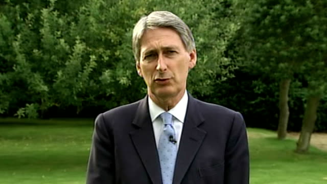 london 2012 olympic games: government and games organisers claim security will not be compromised by g4s problems; surrey: philip hammond mp... - politics and government stock videos & royalty-free footage