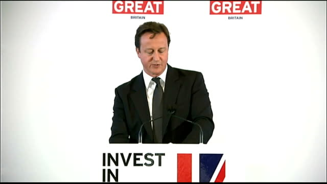 government launches campaign to improve image of britain abroad david cameron mp speech sot in the run up to 2012 when the eyes of the world will be... - send stock videos and b-roll footage