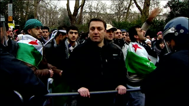 heads of state at risk of assassination says report 422012 antiassad protesters demonstrating outside the syrian embassy boris johnson interview sot - assassination stock videos and b-roll footage