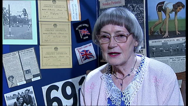 history of the games in london int dorothy parlett interview sot on receiving olympic medal 'olympic games 1948' flag on display dorothy parlett... - olympic medal stock videos & royalty-free footage